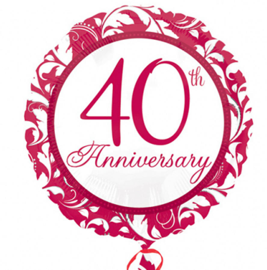 40th - Ruby Anniversary