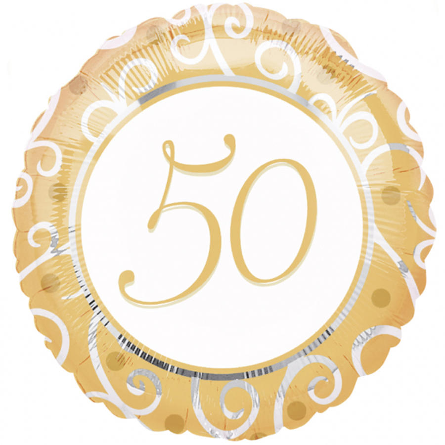 Golden Anniversary Tableware &  Decor