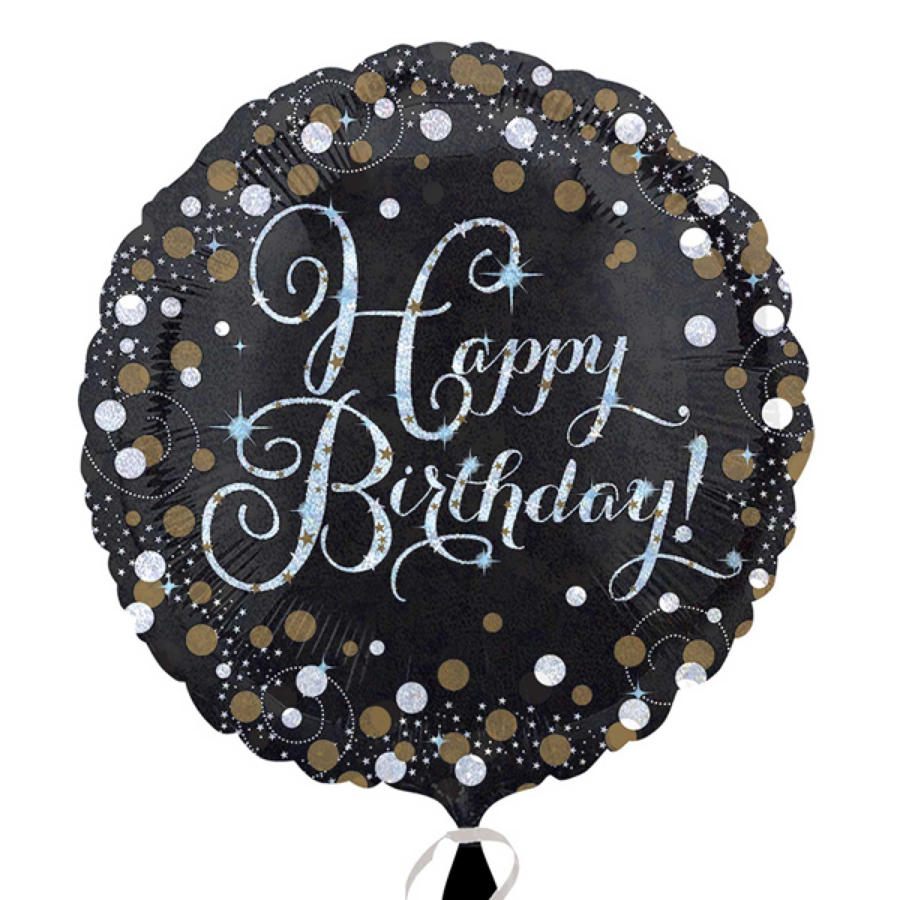 Gold Celebration Happy Birthday foil balloon