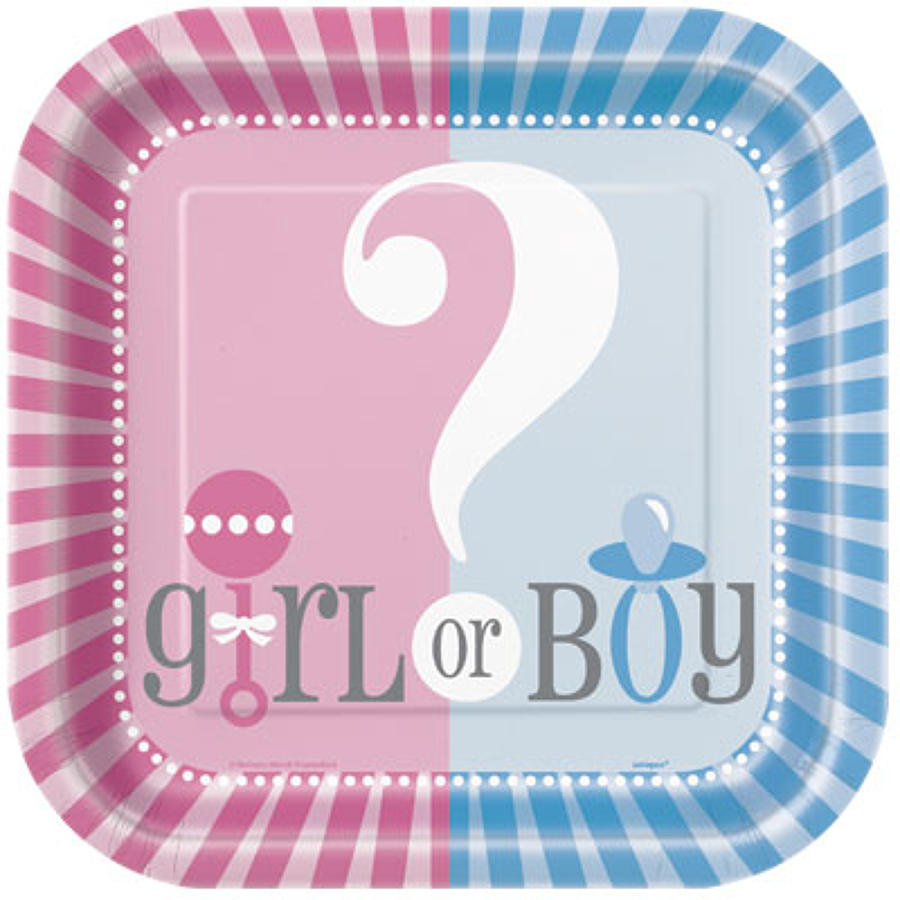 Gender Reveal plates - 9 inch