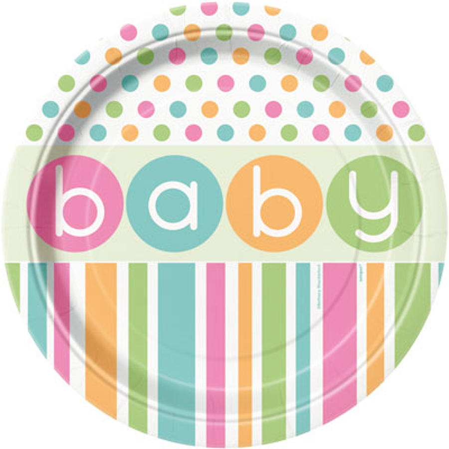 Pastel Baby Shower plates