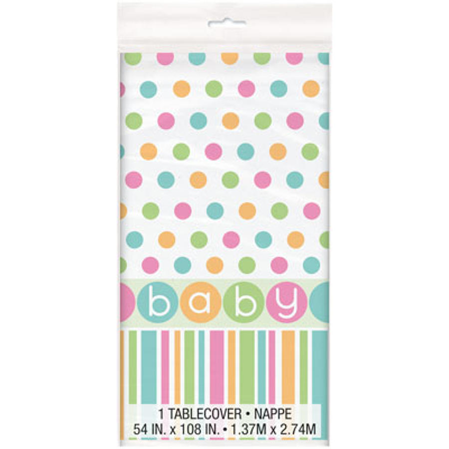 Pastel design Baby Shower table cover