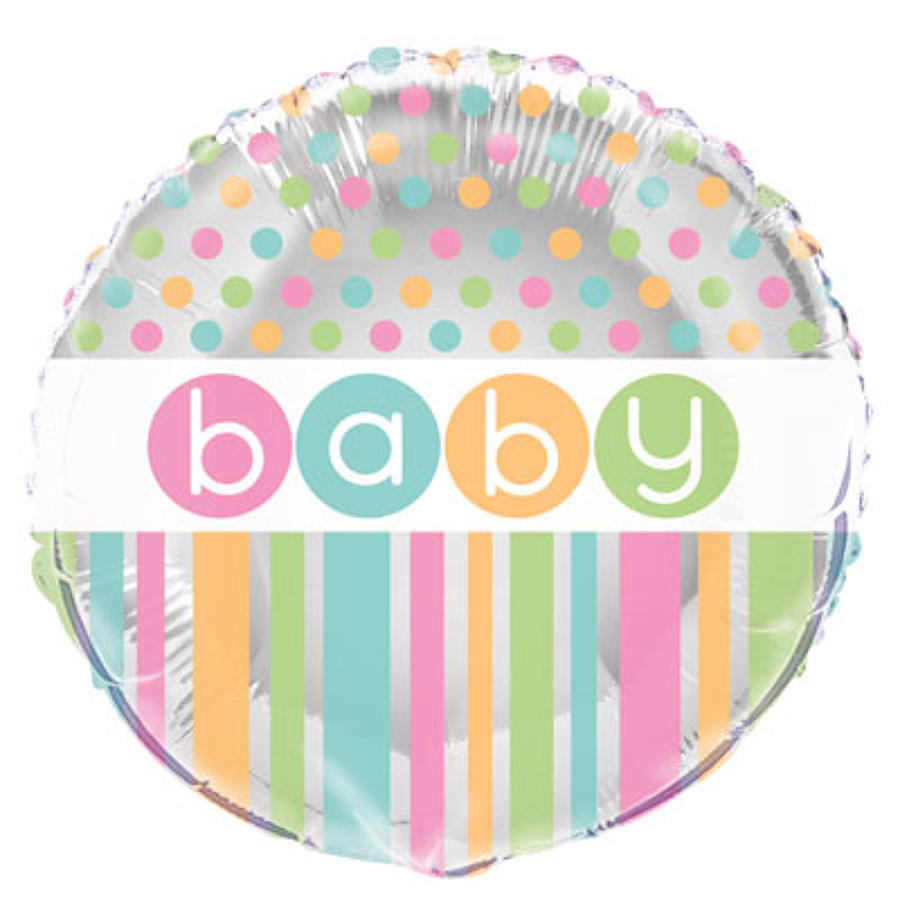 Pastel Baby Shower design foil balloon