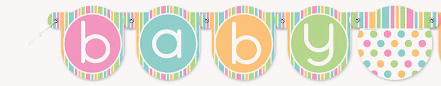 Pastel Baby shower design banner