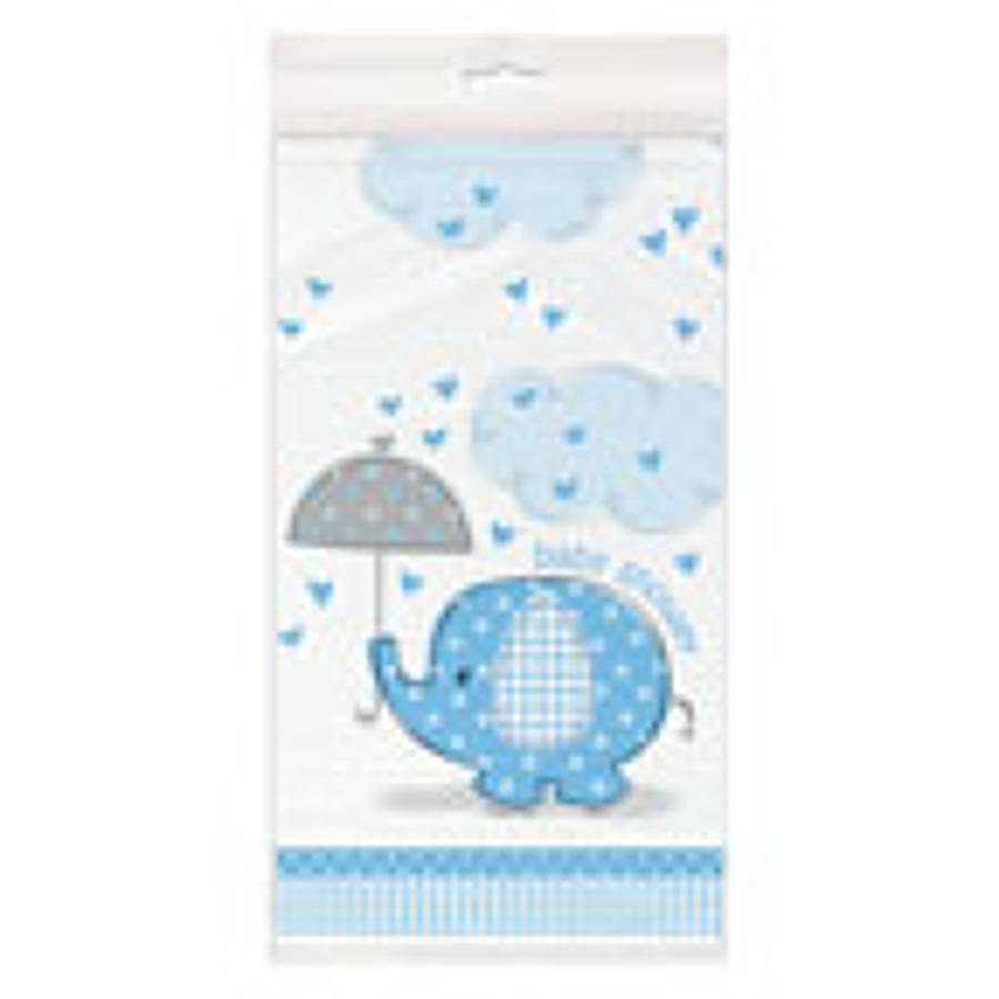 Umbrellaphants Blue Baby Shower table cover