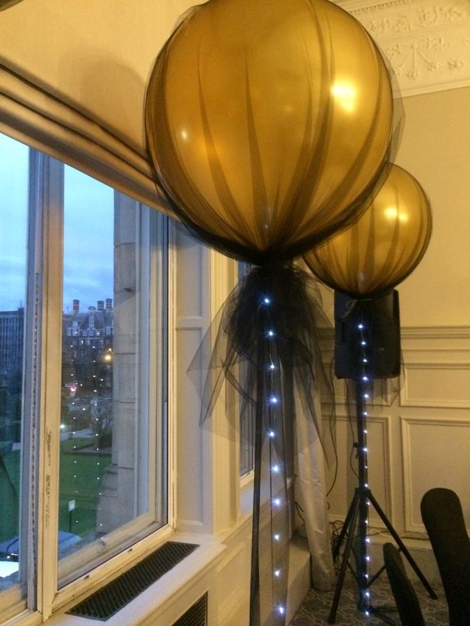 Giant gold 30 inch latex balloon