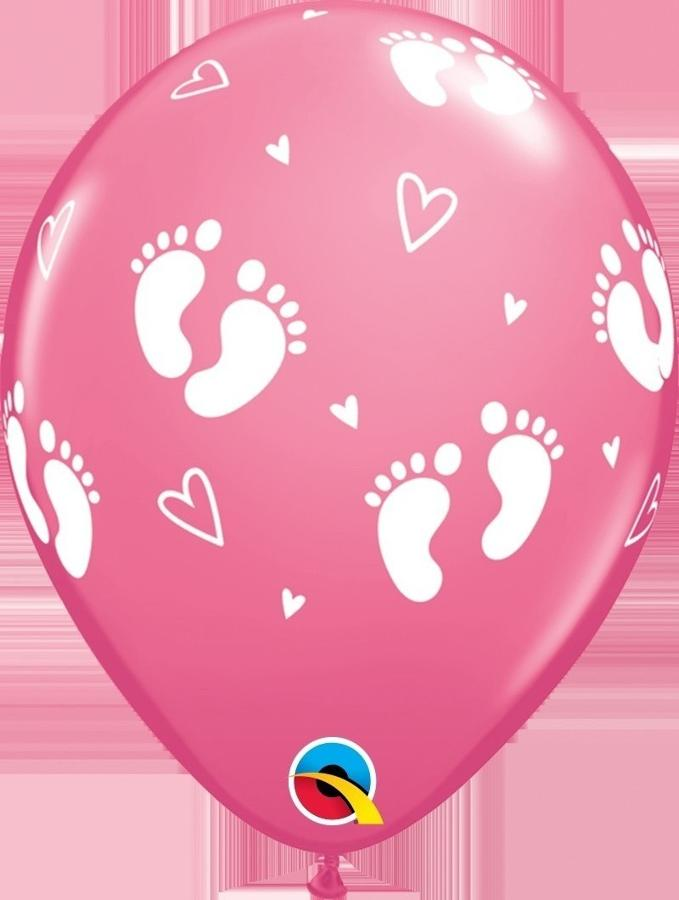 Qualatex rose Footprint latex balloons
