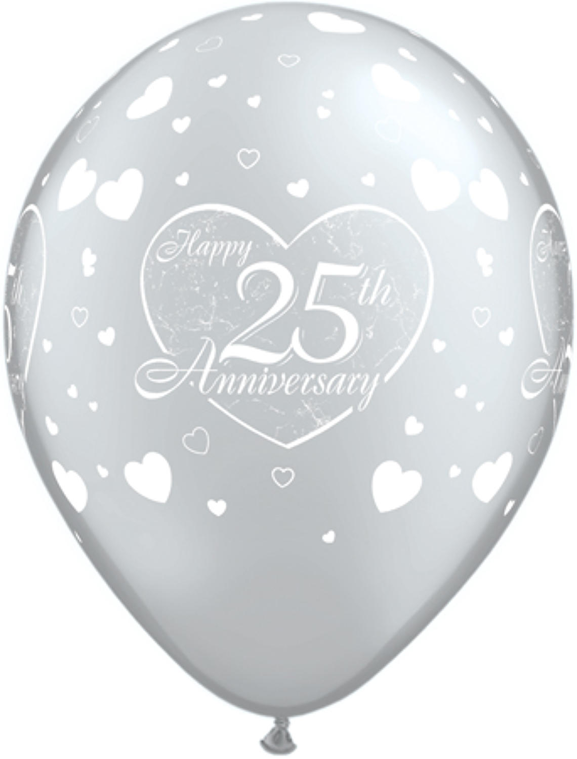 Happy 25th Anniversary latex balloons