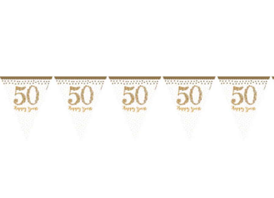 50th Anniversary pennant bunting