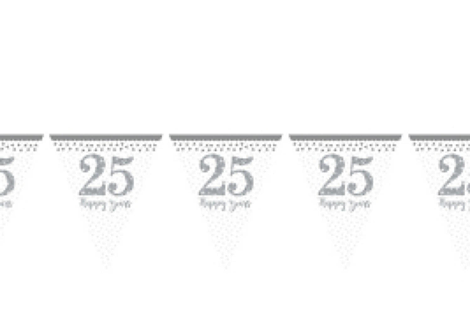 Silver anniversary pennant bunting