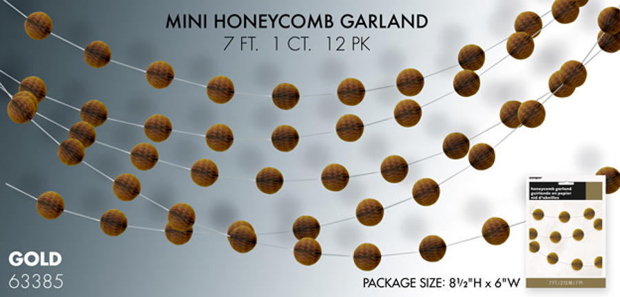 Gold Honeycomb Garland