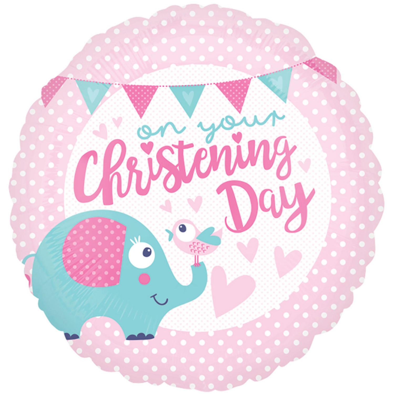 Christening Day pink foil balloon  sc 1 st  The Little Celebration Company & Christening Day pink foil balloon in Tableware and decor - Pink