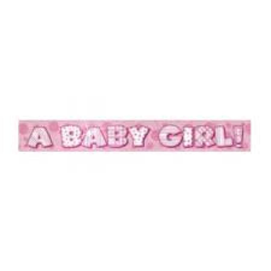 A Baby Girl 12ft banner