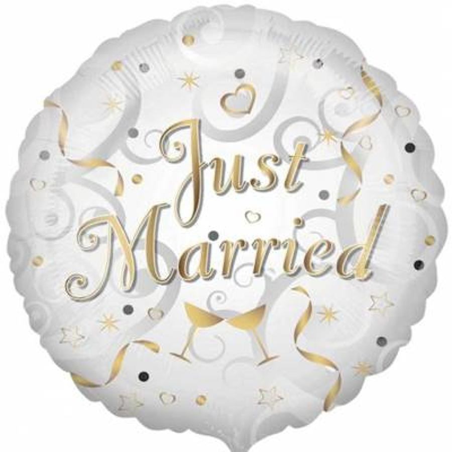 Just Married Foil Balloon