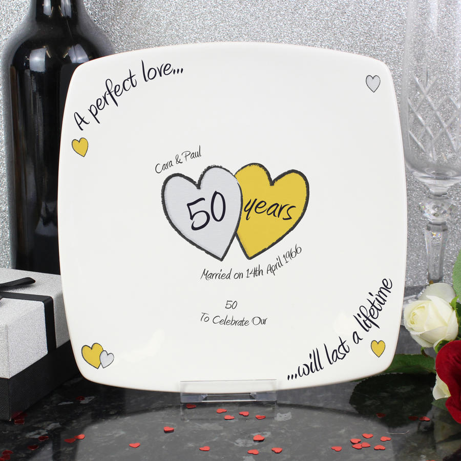 Personalised Gold Wedding Anniversary Gifts