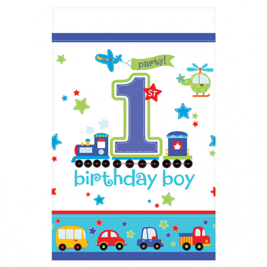 1st Birthday All Aboard Table Cover