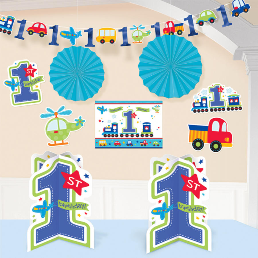 1st Birthday All Aboard Room Decor