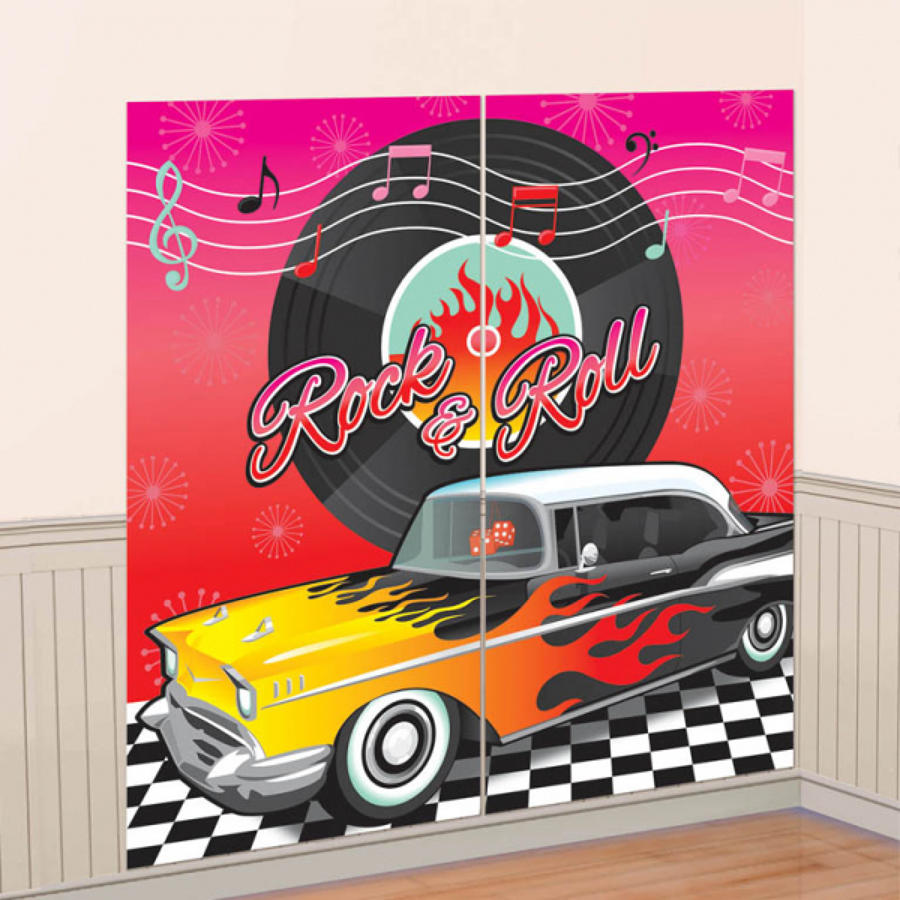 1950's scene setter - wall decoration