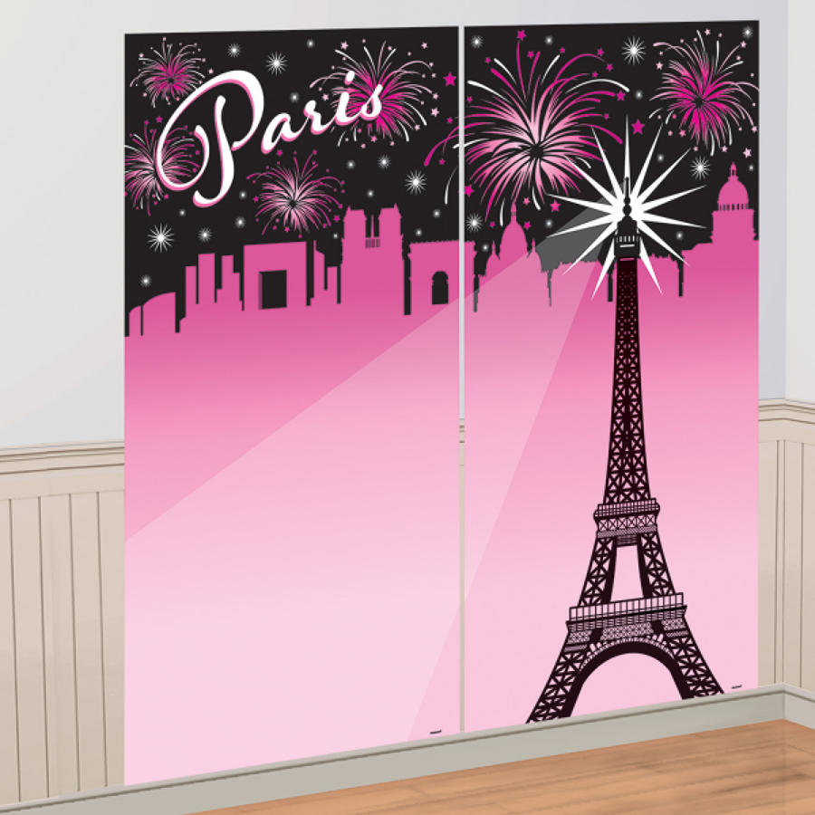 A Day in Paris scene setter - wall decoration