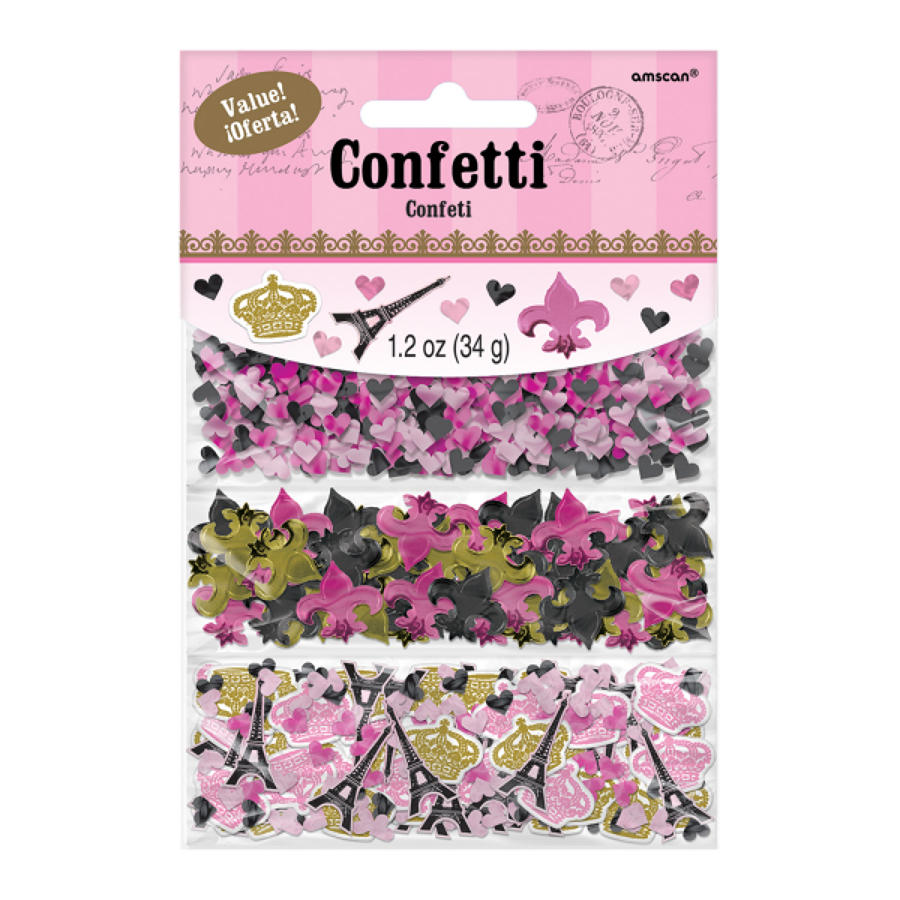 A Day in Paris theme confetti