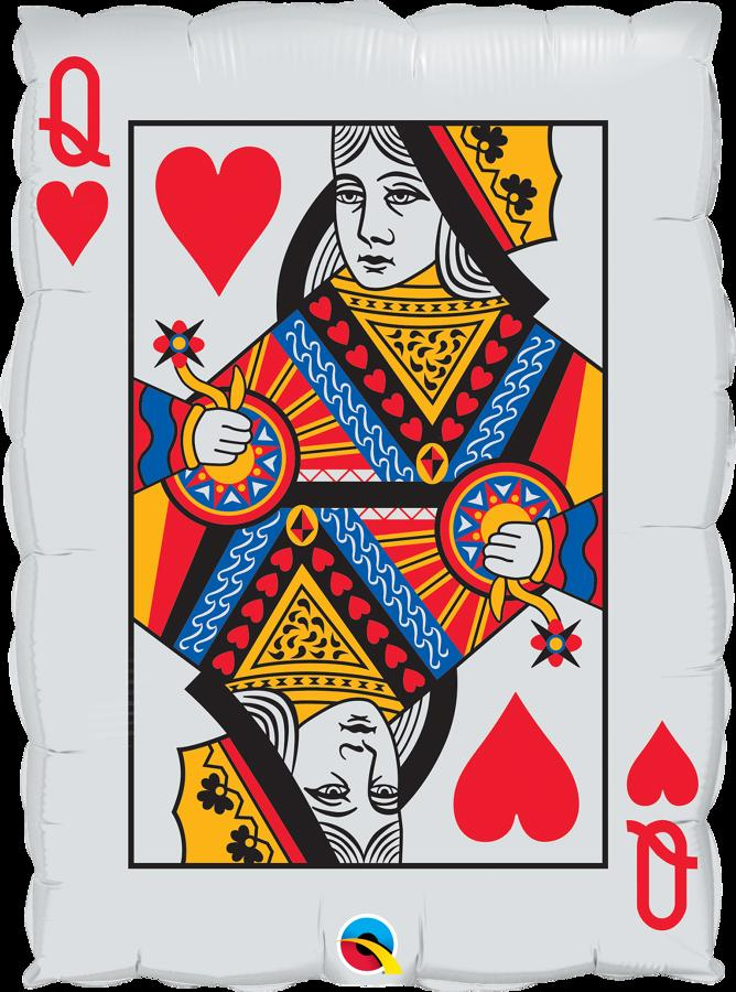 Casino playing card foil balloon