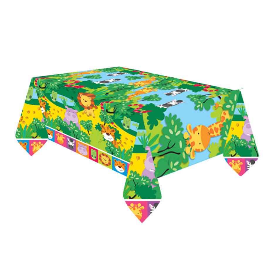 Jungle theme table cover