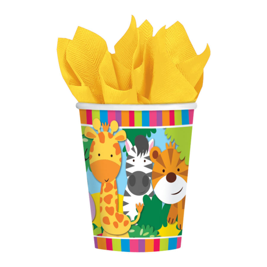 Jungle theme paper cups