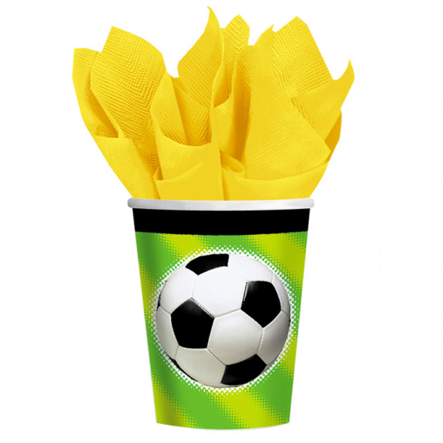 Football theme paper cups