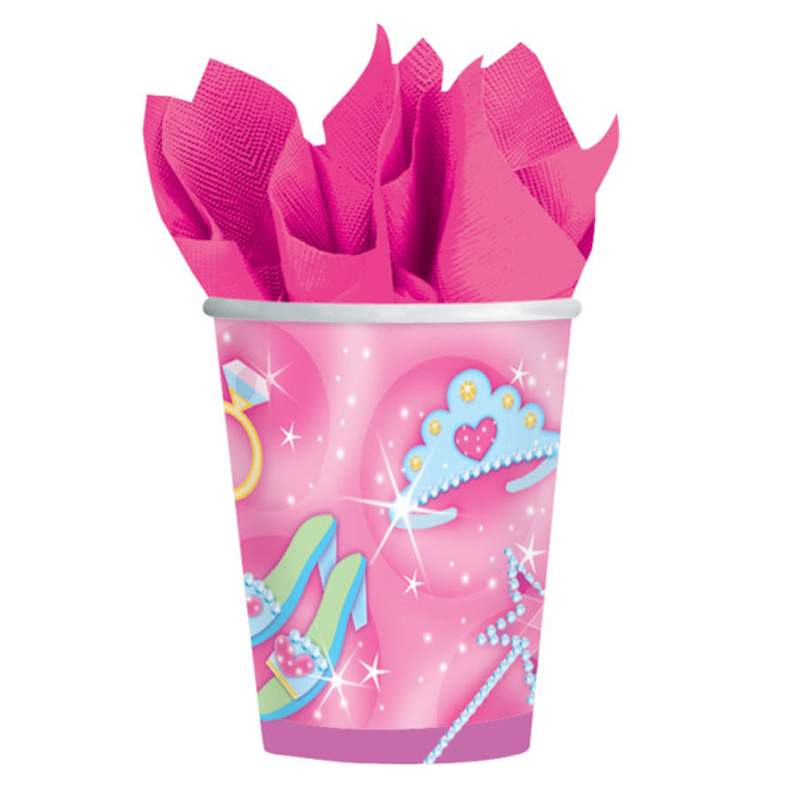 Princess theme paper cups