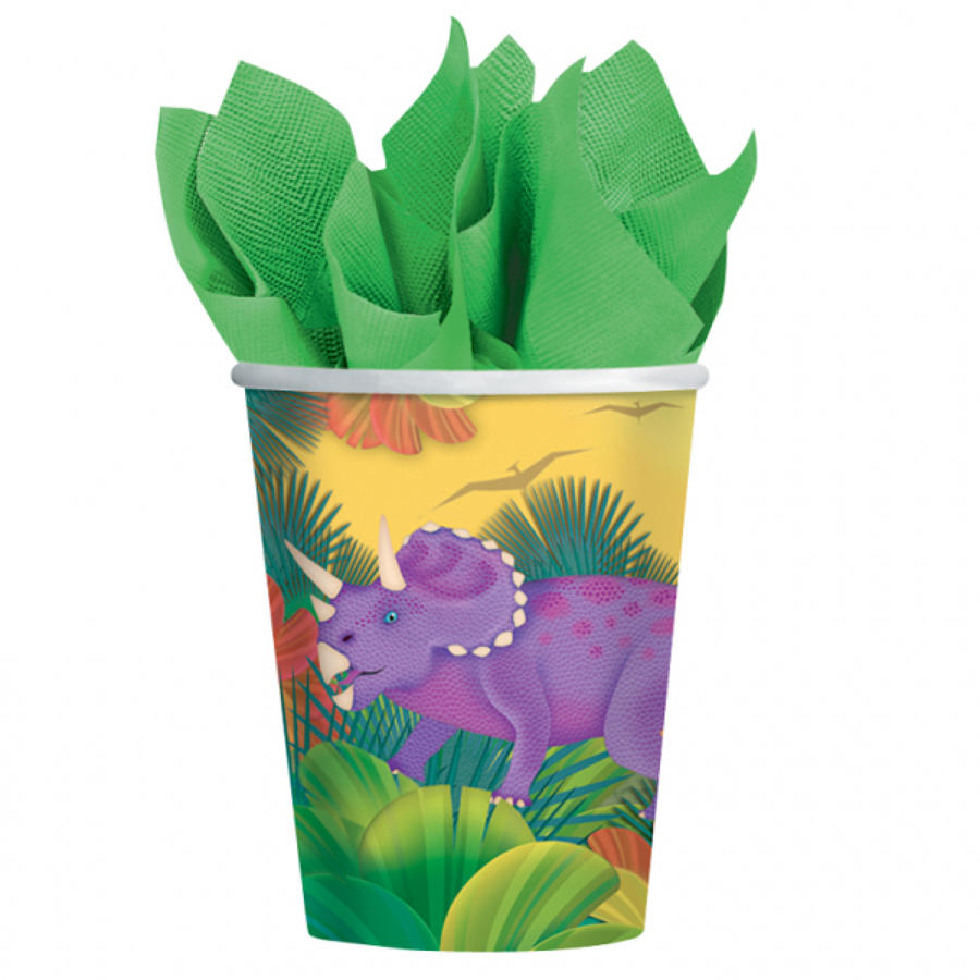 Dinosaur theme paper cups