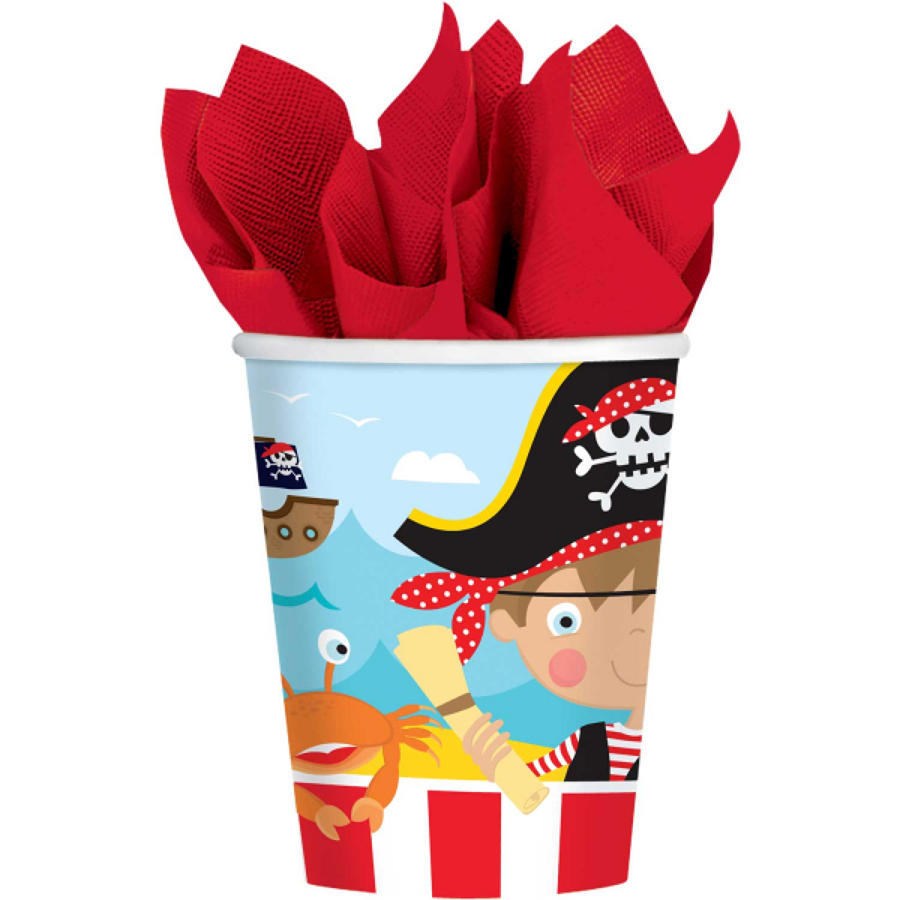 Pirate theme paper cups