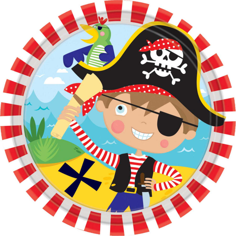 Pirate theme paper plates