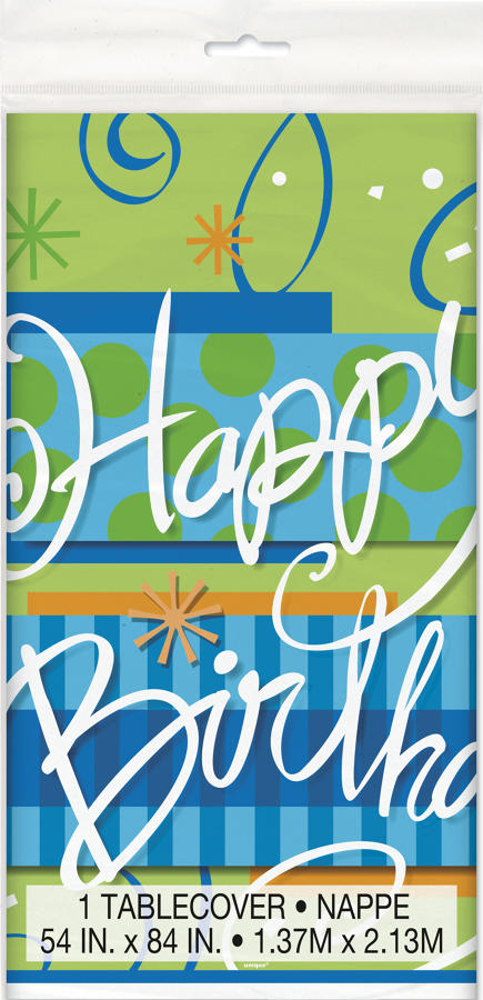 Bright Birthday theme table cover