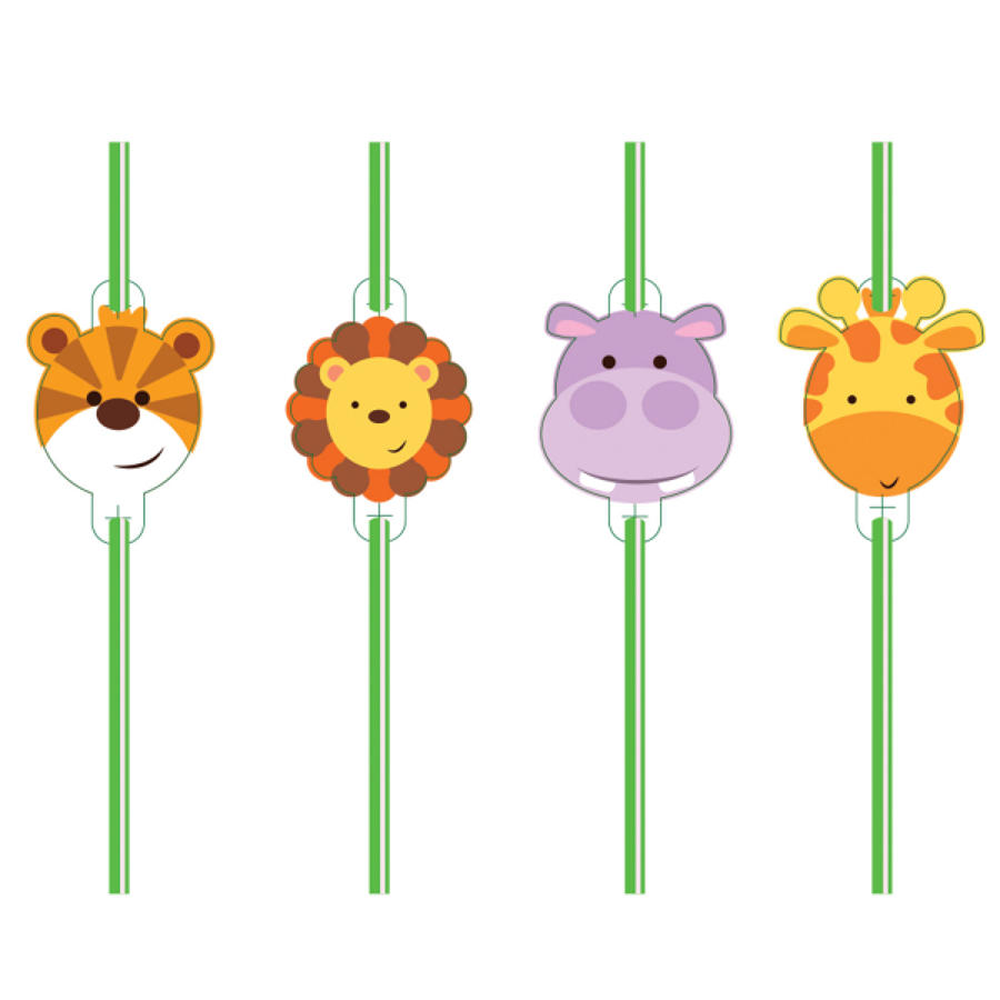 Animal theme straws