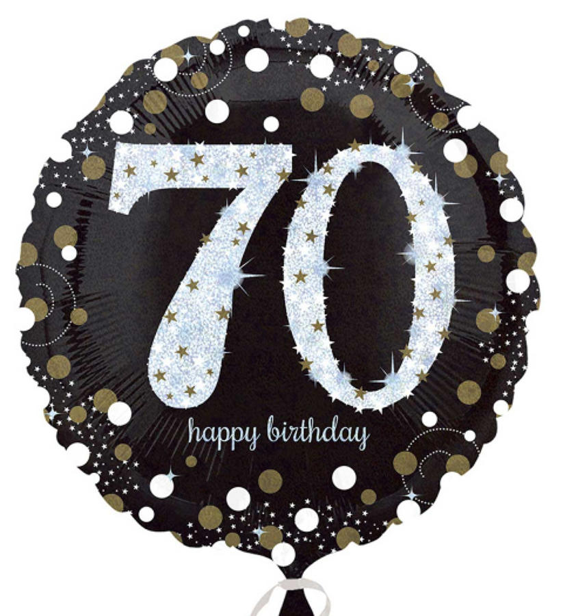 Gold Celebration 70th Birthday foil balloon