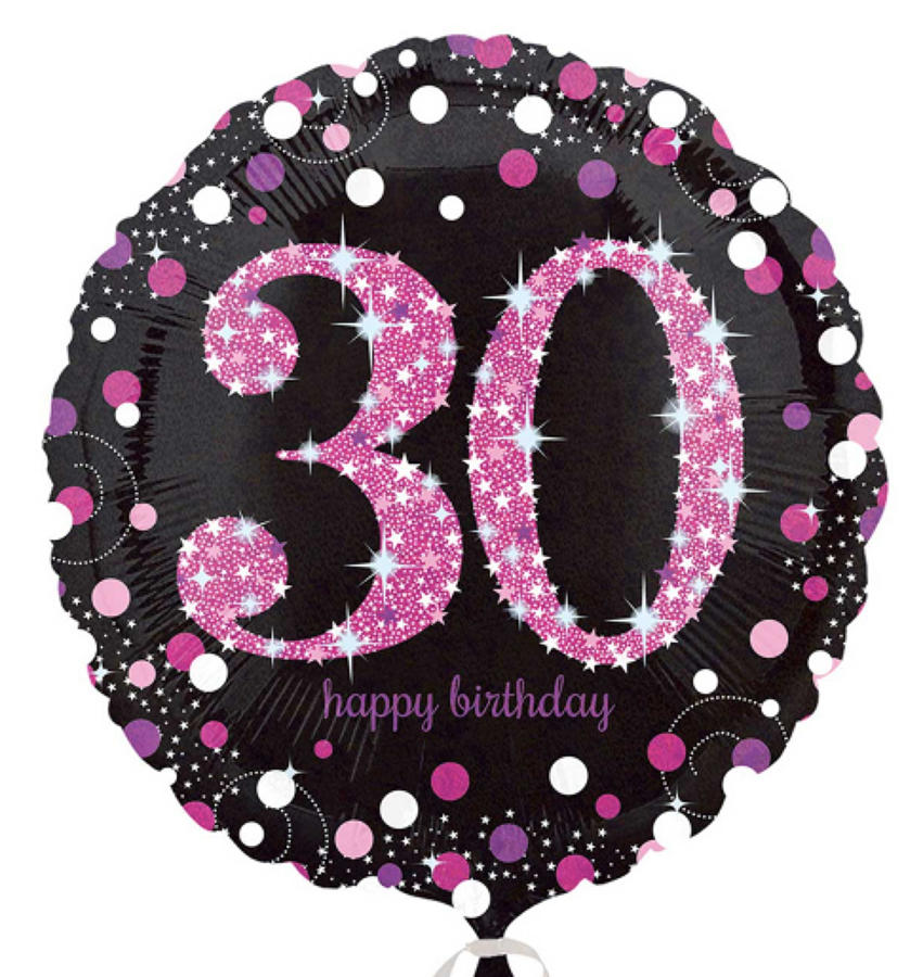 Pink Celebration 30th Birthday foil balloon