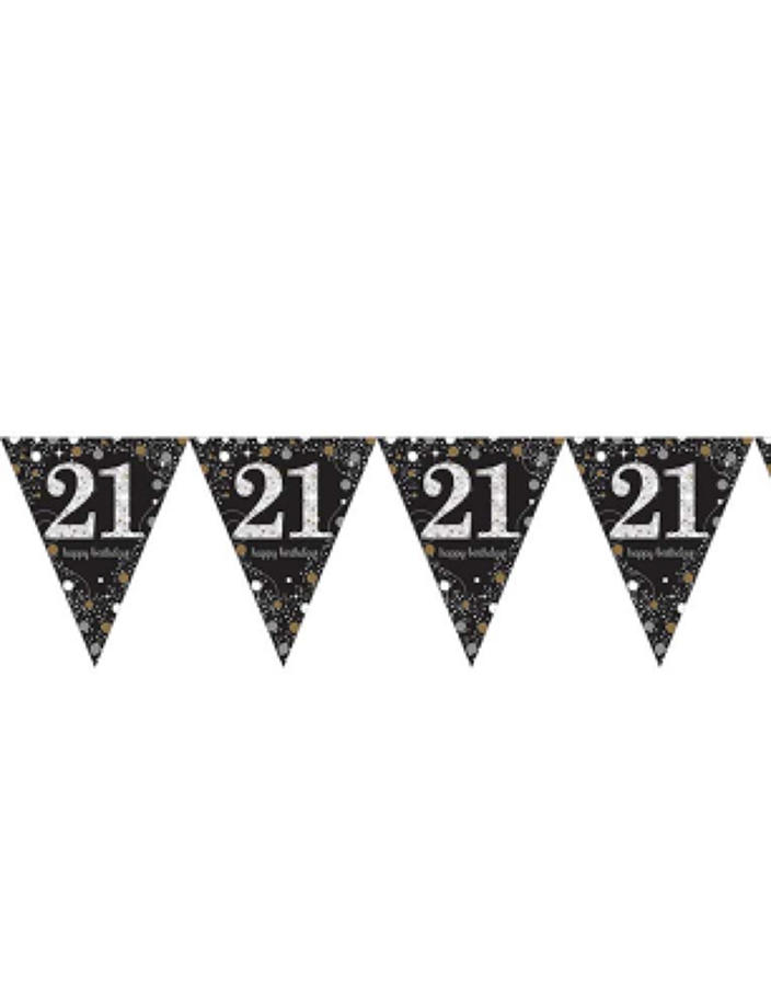 Gold Celebration 21st Birthday bunting