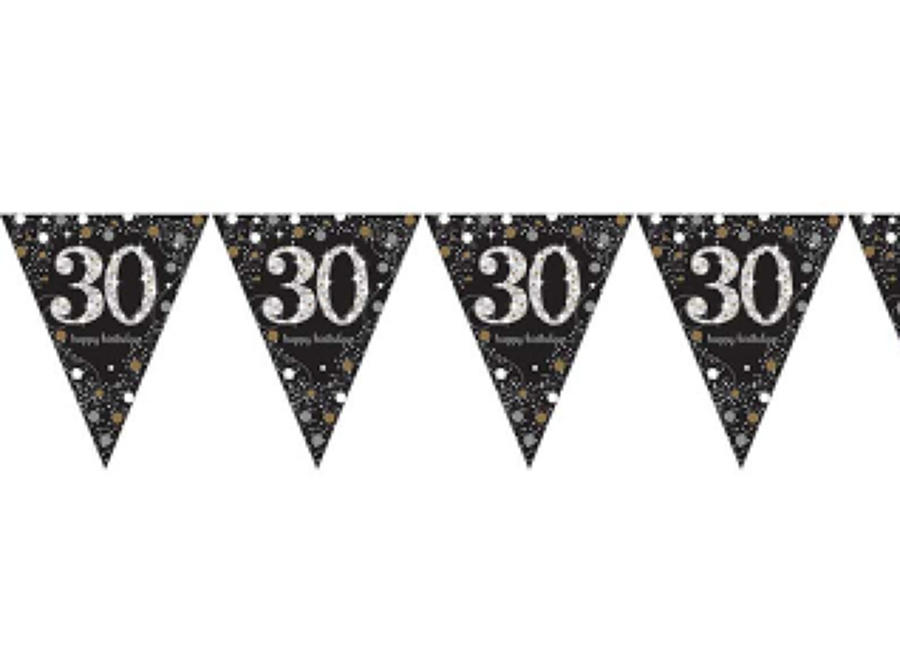 Gold Celebration 30th Birthday bunting