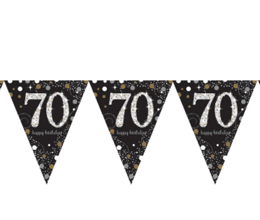 Gold Celebration 70th Birthday bunting
