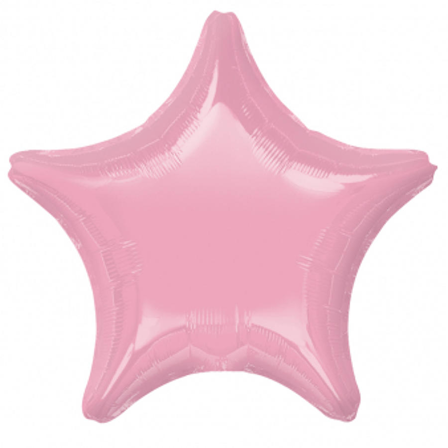 Iridescent Pearl Pink foil star balloon