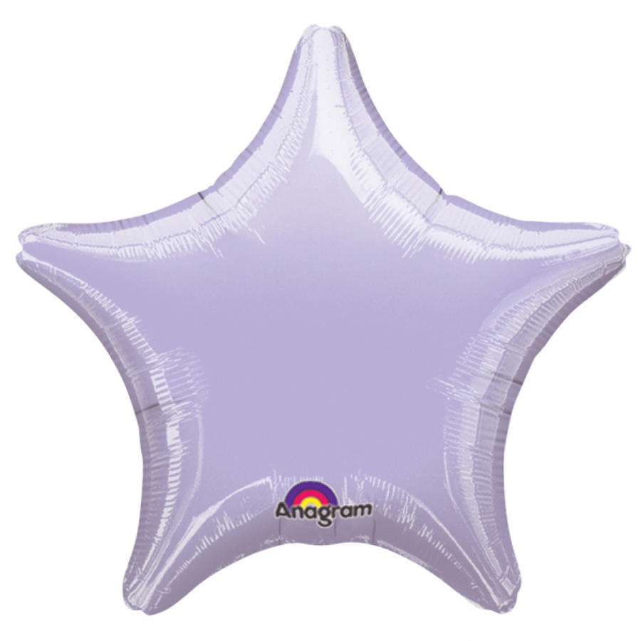 Metallic Pastel Lilac foil star balloon