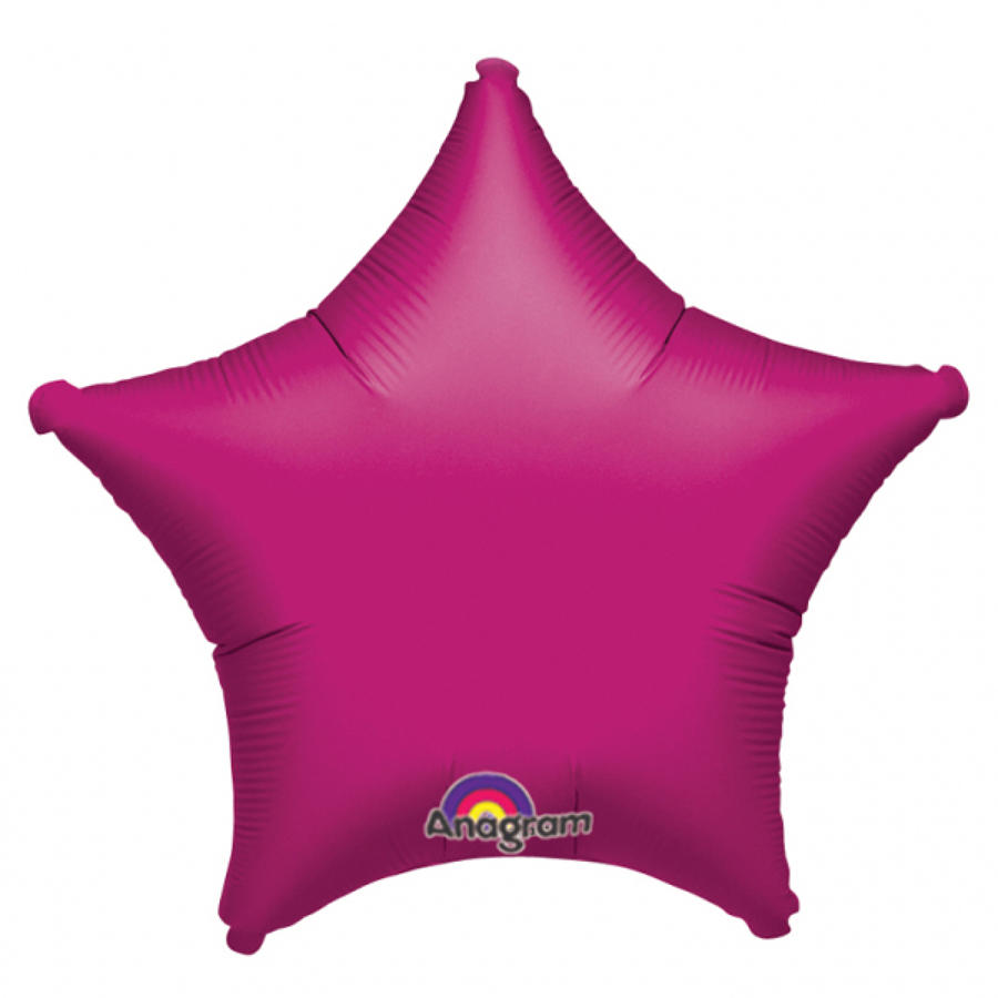 Fuchsia foil star balloon