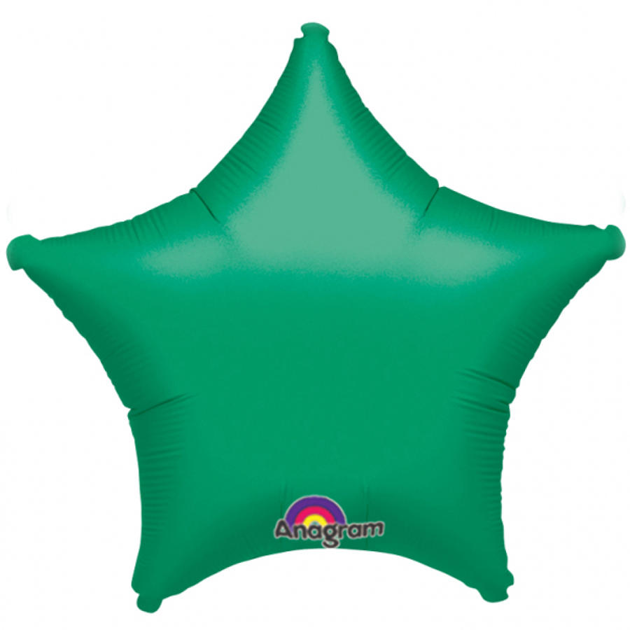 Forest Green foil star balloon