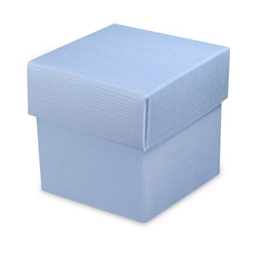 Pale Blue square favour box & lid