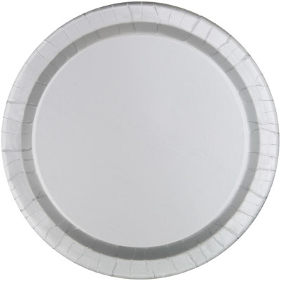Silver paper plates - 9
