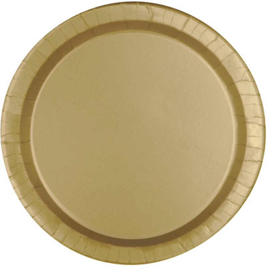 Gold paper plates - 9