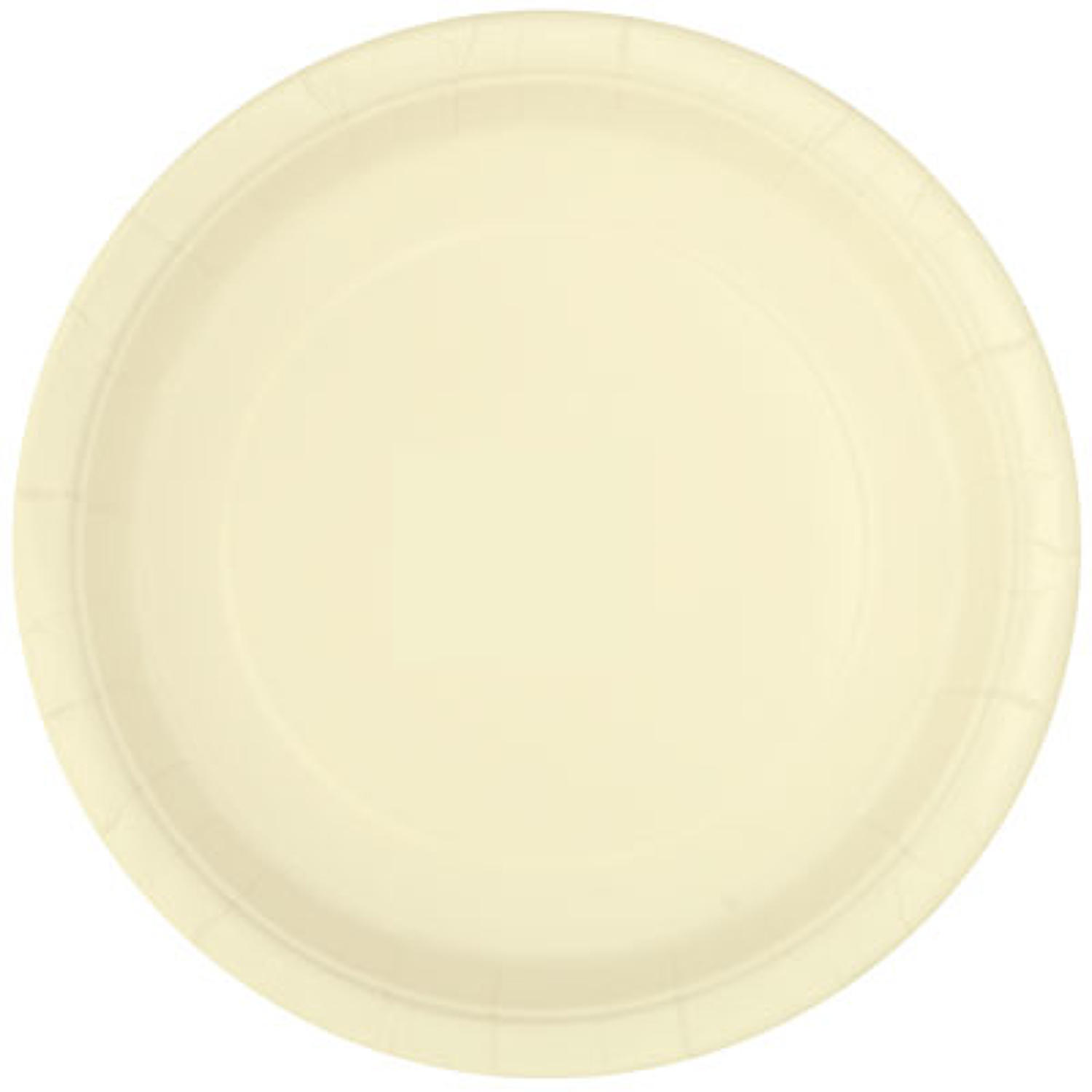 Ivory paper plates - 9