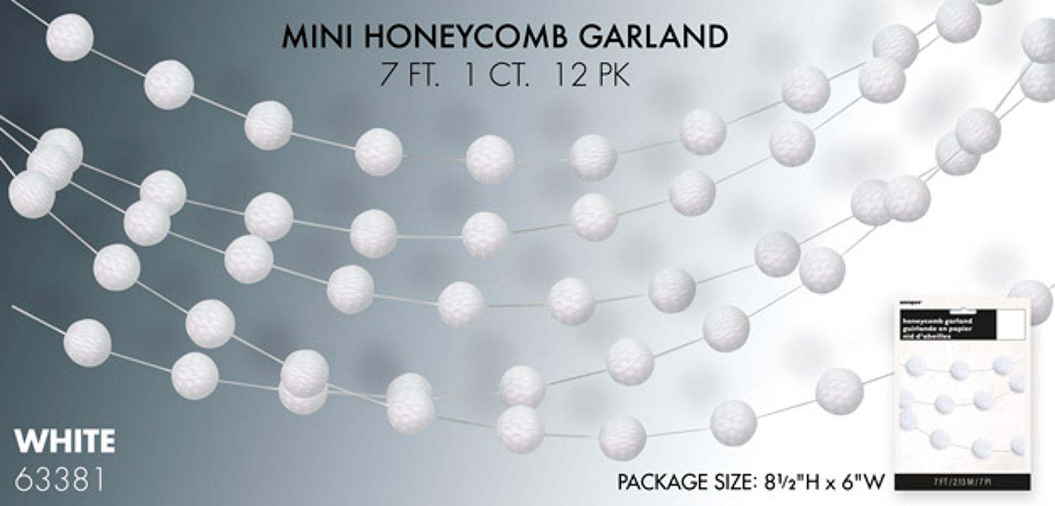 White honeycomb garland