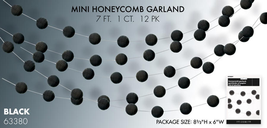 Black honeycomb garland