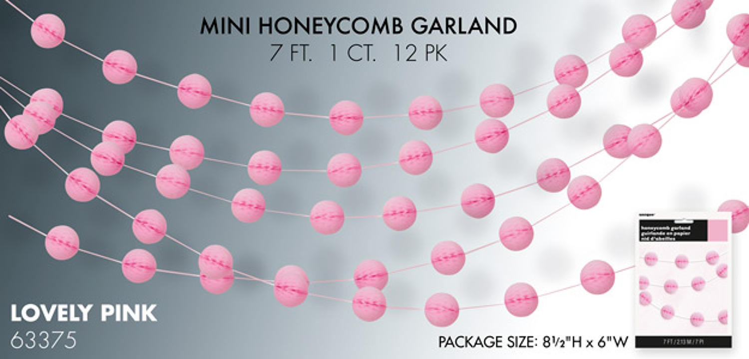 Lovely Pink honeycomb garland